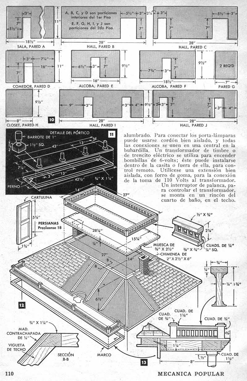 Кукольный домик - Чертежи и схемы.
